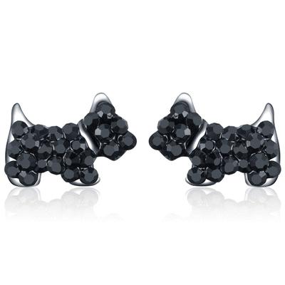 【專區3件85折】個性可愛狗狗 耳針/無耳洞黏貼式耳環