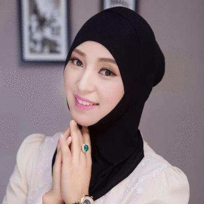 穆斯林棉質圓頭便捷打底帽