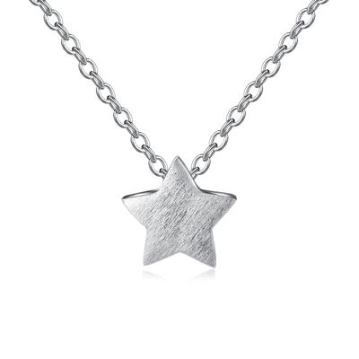 清新簡約璀璨星星S925純銀項鍊