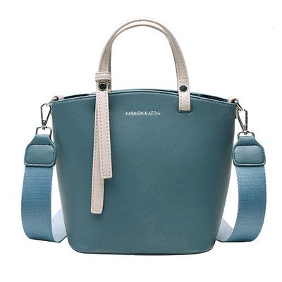 韓款優雅純色手提側背包
