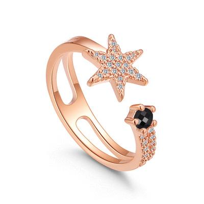 神秘耀眼星星鑲鑽指環