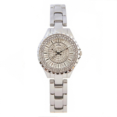 奢華滿鑽防潑水不銹鋼帶手錶 ( 不附手鍊 )