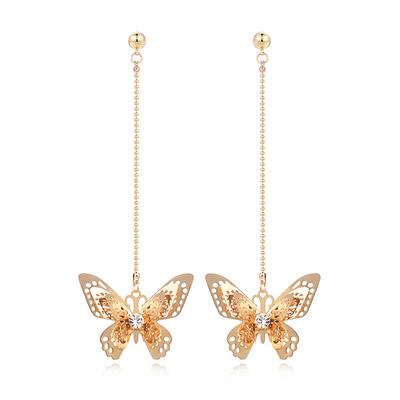 甜美氣質立體蝴蝶 耳針/黏式耳環