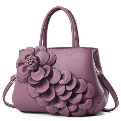時尚經典立體花朵側背手提包