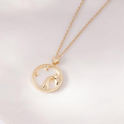 微光漾彩珠母貝十二星座項鍊