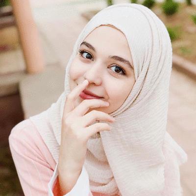 穆斯林純色泡泡毛邊長頭巾