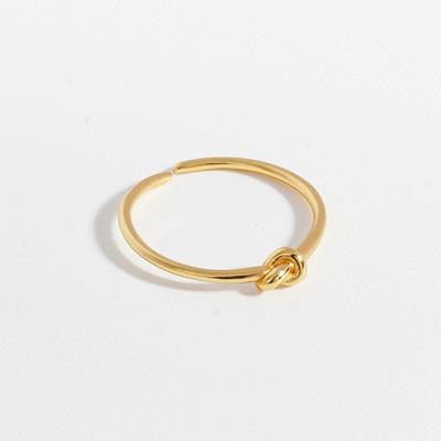 你與我的愛戀繩結開口戒指[純銀]