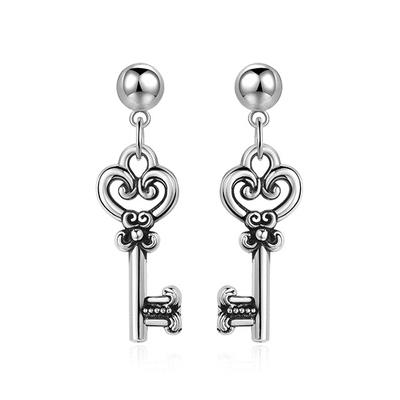 韓版復古金屬鑰匙 耳針/黏式耳環