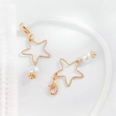 童趣簍空星星珍珠口罩吊飾