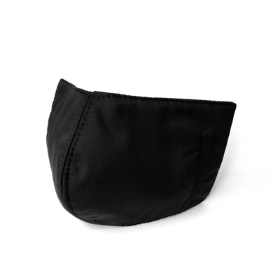 MIT台灣製-黑色純棉透氣布口罩 (成人適用)