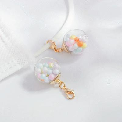 彩色泡泡透明玻璃球口罩吊飾