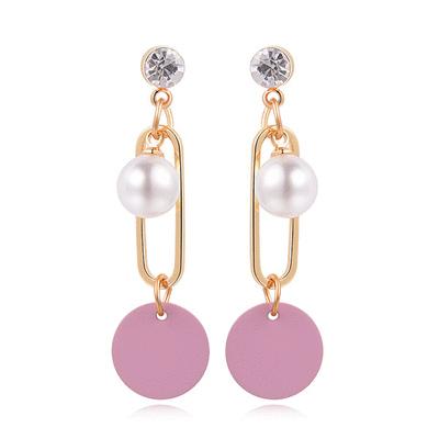 優雅簍空珍珠圓環 耳針/黏式耳環
