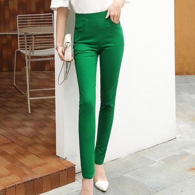 MIT台灣製造-純色休閒涼感修身長褲