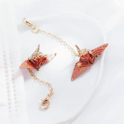【純手工製作】日系和風千紙鶴口罩吊飾