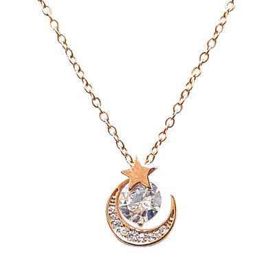 時尚閃耀氣質星月項鍊
