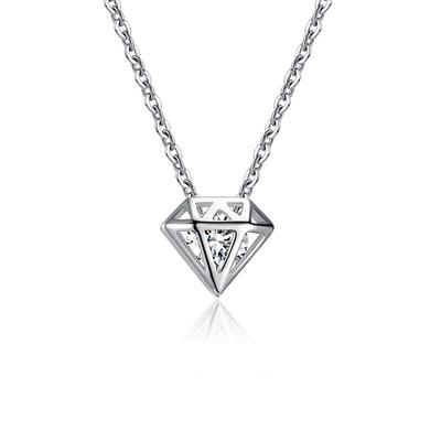 時尚鑽石造型單鑽合金項鍊