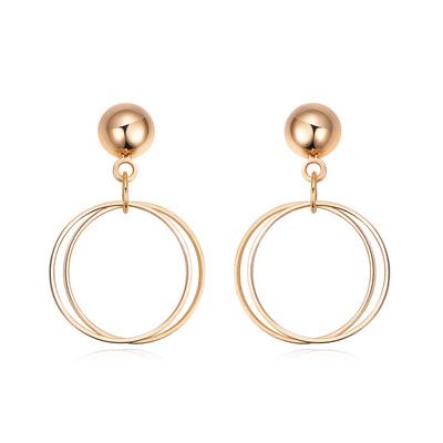 時尚簡約幾何圖形黏式耳環