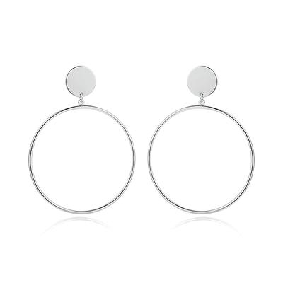氣質簡約金屬圓環 黏式耳環