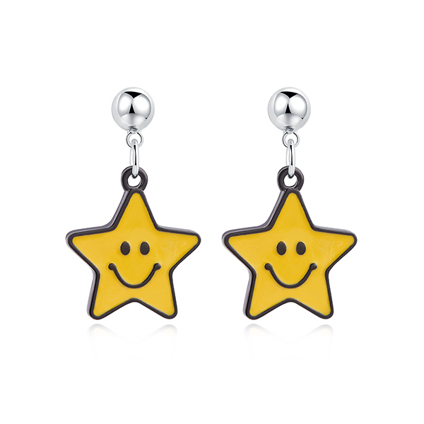 STK458YS 黃色星星-黏貼款