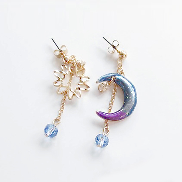 STK081GD-N 炫彩紫藍-耳針款