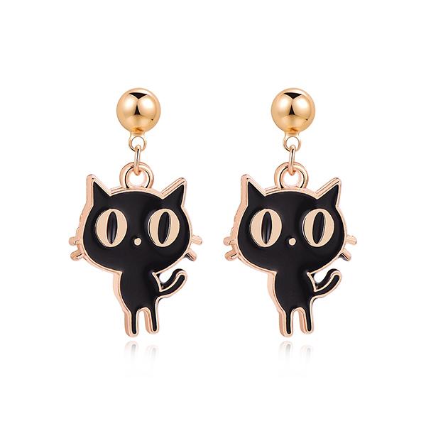 STK465CT 黑色貓咪-黏貼款