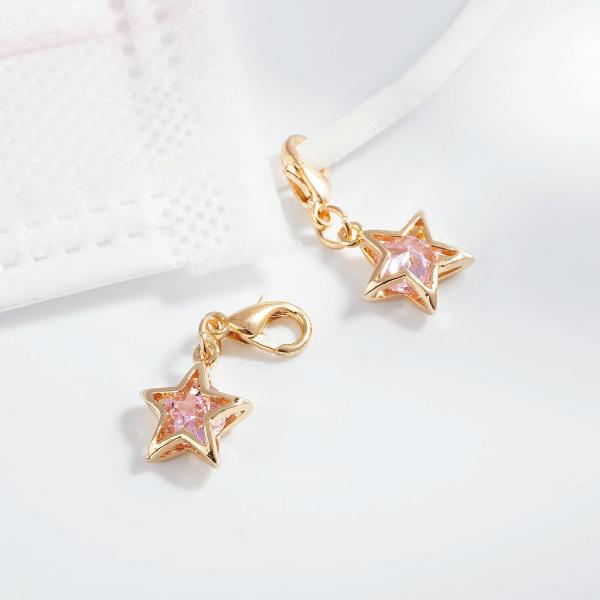閃亮氣質鑽石星星口罩吊飾