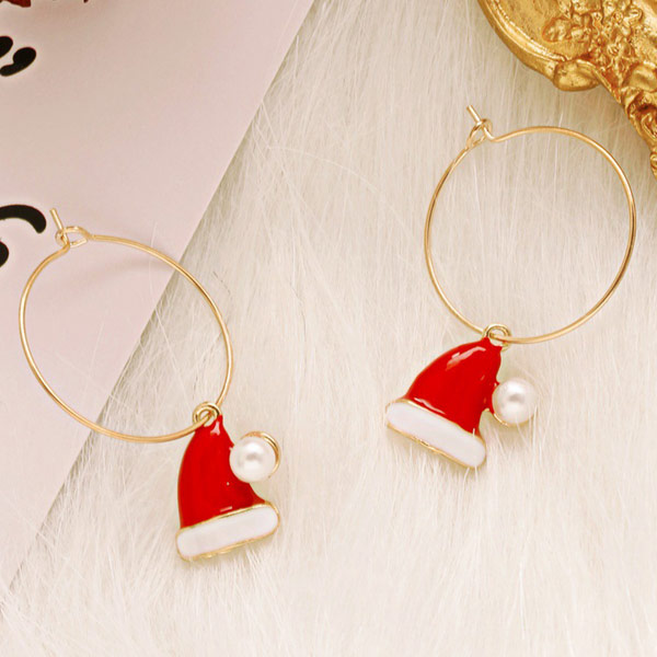 STK617HT-N 聖誕帽/耳針款