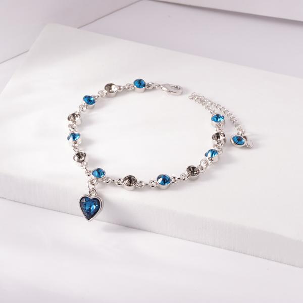 璀璨十二星座冰湖藍奧地利水晶手鍊