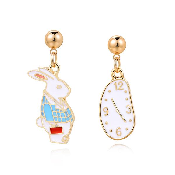 STK262CR 鐘錶與兔子-黏貼款