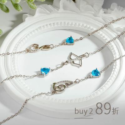 浪漫戀曲十二星座藍石手鍊[純銀]
