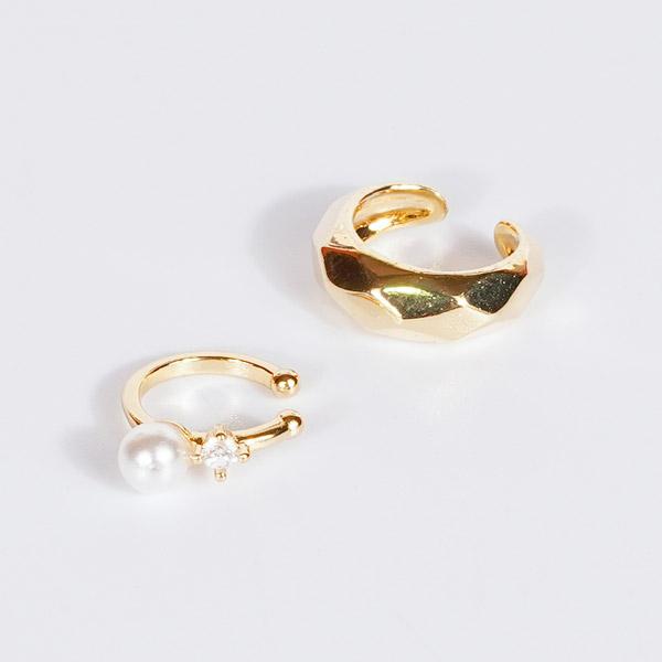 韓系優雅金屬珍珠耳骨夾